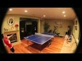 Эпическая концовка игры в пинг-понг.