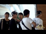 2013.09.08. KIM HYUN JOONG  fancam - Wiggling his toes, Dancing and Drinking at Gimpo Airport